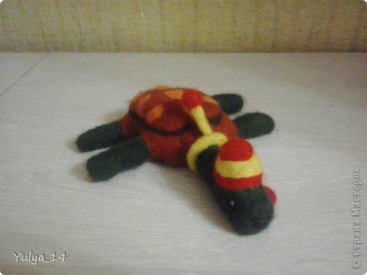 """Войлочная игрушка """" Черепаха """""""