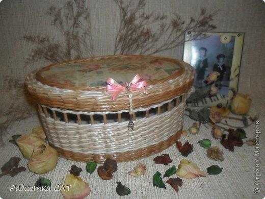 На новогодних каникулах сплелась романтичная шкатулочка.  фото 1
