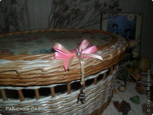 На новогодних каникулах сплелась романтичная шкатулочка.  фото 4