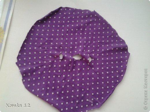 Здравствуйте! Хочу поделиться с вами идеей, как сделать платье для кукол за 5 минут :) И так нам понадобится : -  Ткань Тарелка или циркуль Нитки и иголка ( по желанию ) Ножницы фото 2