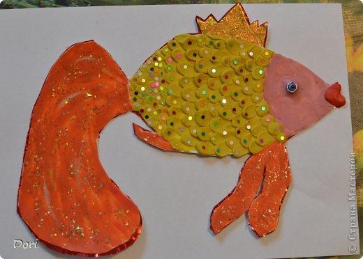 Как сделать золотая рыбка из пластилина