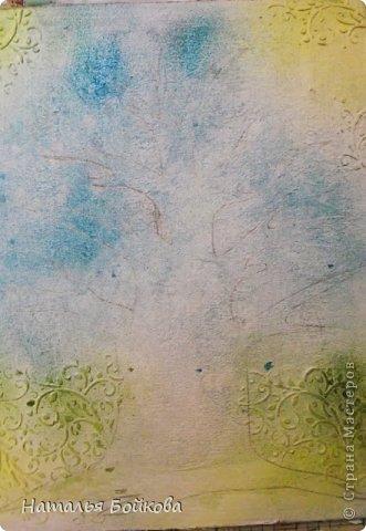 Картина панно рисунок Мастер-класс Скрапбукинг День семьи Ассамбляж Мк Родовое дерево Бумага Картон Клей Краска фото 11