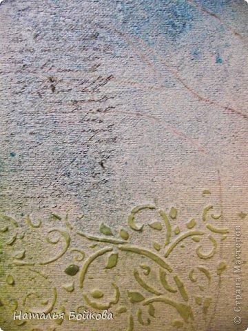 Картина панно рисунок Мастер-класс Скрапбукинг День семьи Ассамбляж Мк Родовое дерево Бумага Картон Клей Краска фото 12
