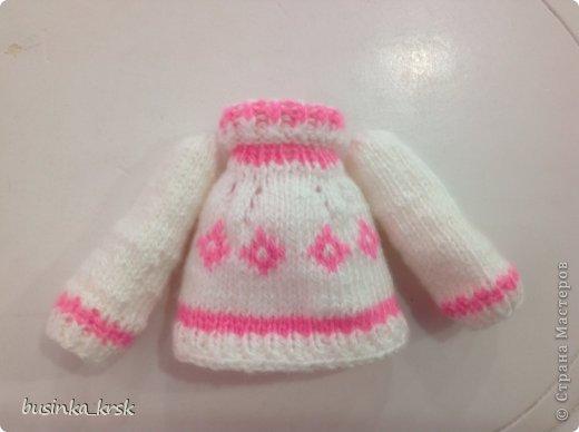 Игрушка Мастер-класс Вязание спицами Вязаный свитер для текстильной игрушки Пряжа фото 17