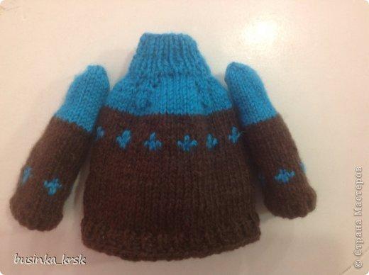 Игрушка Мастер-класс Вязание спицами Вязаный свитер для текстильной игрушки Пряжа фото 18