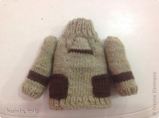 Игрушка Мастер-класс Вязание спицами Вязаный свитер для текстильной игрушки Пряжа фото 19
