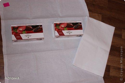 Мастер-класс Поделка изделие Картонаж Красим ткань и делаем из нее шкатулочки Картон Ленты Ткань фото 2