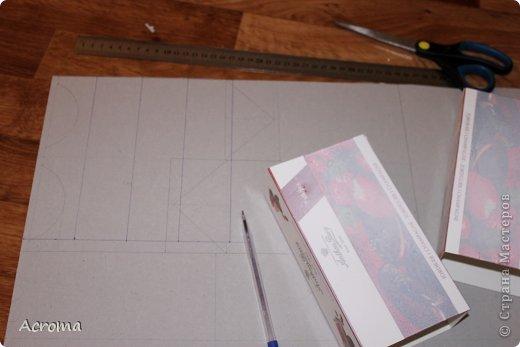 Мастер-класс Поделка изделие Картонаж Красим ткань и делаем из нее шкатулочки Картон Ленты Ткань фото 11