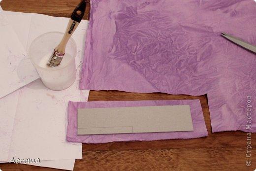 Мастер-класс Поделка изделие Картонаж Красим ткань и делаем из нее шкатулочки Картон Ленты Ткань фото 12