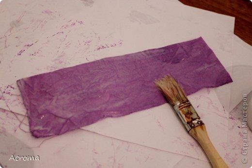 Мастер-класс Поделка изделие Картонаж Красим ткань и делаем из нее шкатулочки Картон Ленты Ткань фото 13