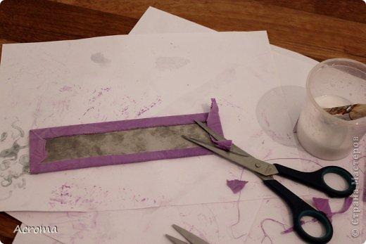 Мастер-класс Поделка изделие Картонаж Красим ткань и делаем из нее шкатулочки Картон Ленты Ткань фото 14