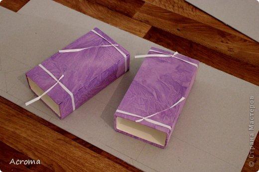Мастер-класс Поделка изделие Картонаж Красим ткань и делаем из нее шкатулочки Картон Ленты Ткань фото 17