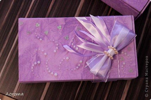 Мастер-класс Поделка изделие Картонаж Красим ткань и делаем из нее шкатулочки Картон Ленты Ткань фото 21