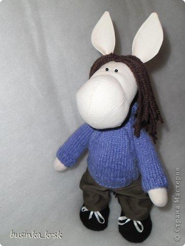Игрушка Мастер-класс Вязание спицами Вязаный свитер для текстильной игрушки Пряжа фото 1
