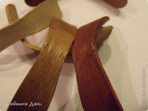 Мастер-класс Поделка изделие Моделирование конструирование Деревянные цветы МК Материал бросовый фото 7