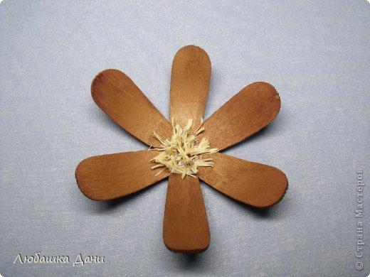 Мастер-класс Поделка изделие Моделирование конструирование Деревянные цветы МК Материал бросовый фото 15