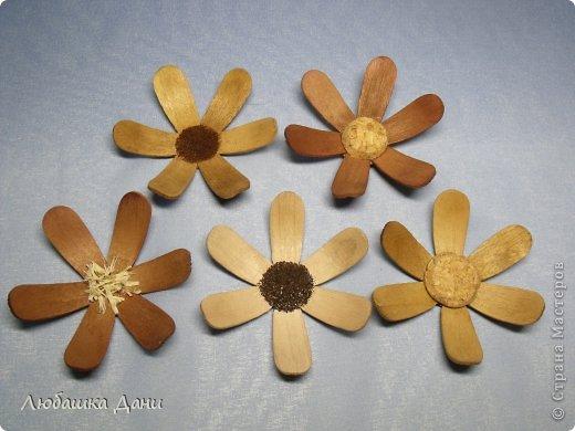 Мастер-класс Поделка изделие Моделирование конструирование Деревянные цветы МК Материал бросовый фото 16