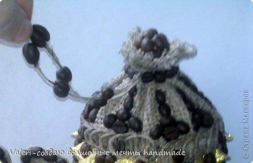 Декор предметов Мастер-класс Аппликация Ассамбляж Кофейный домик-баночка для хранения всяких нужностей МК Картон Клей Кофе Мешковина Шпагат фото 24