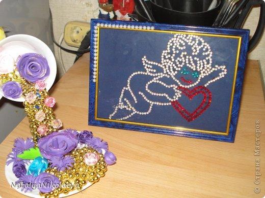 Картина из страз, подарок учителю.  фото 2