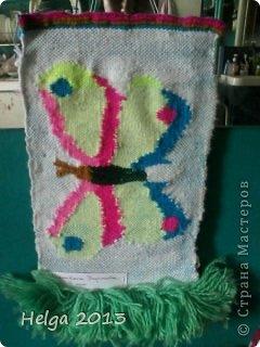 Представляю вашему вниманию детские работы в технике гобелен (ручное ткачество), возраст учеников 9-15 лет, это их первые панно. Попугайчик. фото 7