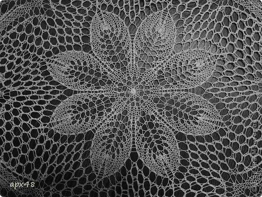 Интерьер Вязание спицами Салфетка спицами Цветок Пряжа фото 2