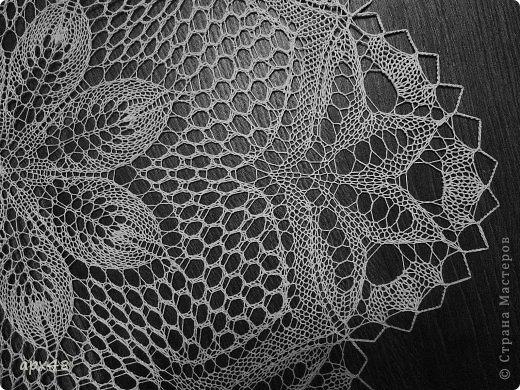 Интерьер Вязание спицами Салфетка спицами Цветок Пряжа фото 4