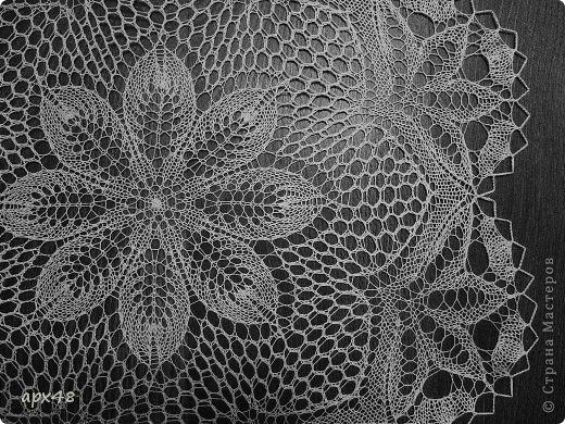 Интерьер Вязание спицами Салфетка спицами Цветок Пряжа фото 3