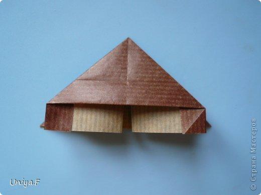 Мастер-класс Новый год Рождество Оригами Медведики Бумага фото 8