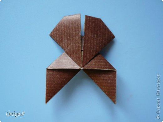 Мастер-класс Новый год Рождество Оригами Медведики Бумага фото 30