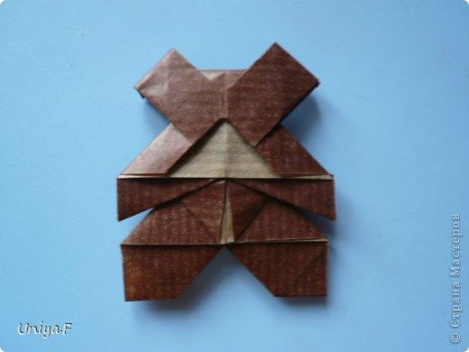 Мастер-класс Новый год Рождество Оригами Медведики Бумага фото 38