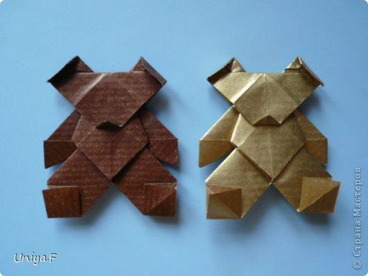 Мастер-класс Новый год Рождество Оригами Медведики Бумага фото 1