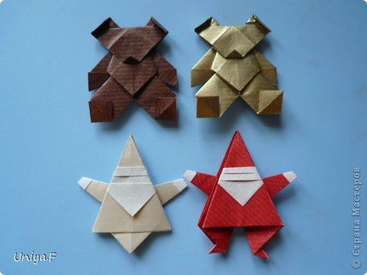 Мастер-класс Новый год Рождество Оригами Медведики Бумага фото 39