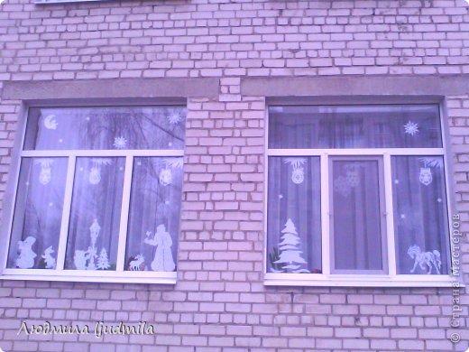 Украшала окна в детском саду фото 1