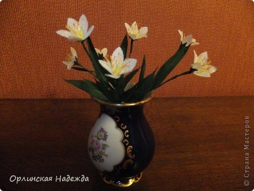 Добрый день любимая Страна! Сегодня я к Вам с повторюшками цветочков. Цветы увидела у замечательной мастерицы Татьяны ( Сапфир )  https://stranamasterov.ru/node/452732, очень понравились, попробовала тоже сделать, но у меня нет кристальной бумаги, поэтому я сделала из простой гофрированной. Татьяна, огромное Вам спасибо за Ваше творчество.  Уезжала надолго в гости к внукам, а когда вернулась, всё никак не могла настроится на творческую волну и решила пока попробовать свои силы вот в таких маленьких пробных цветочках.   Цветы нам дарят настроенье, И пробуждают вдохновенье, Как символ чистой красоты, Ведь очень трудно без мечты!  И остаётся прочно с нами, Всё то, что связано с цветами, В них растворились краски звёзд, И мир любви без мук и слёз!   Стихи Марка Львовского фото 3