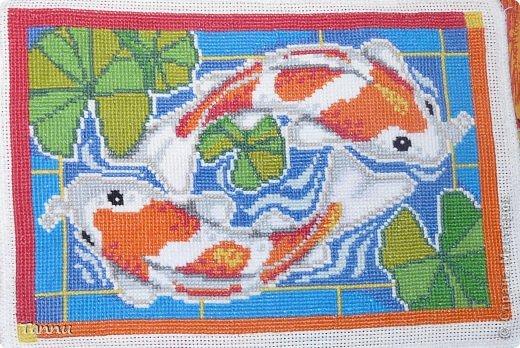 """Вышила таких рыбок, схему в ИНтернете нашла-написано, """"Карпы Кои""""))) фото 1"""
