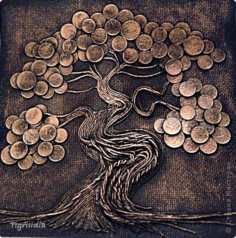 Картина с монет своими руками