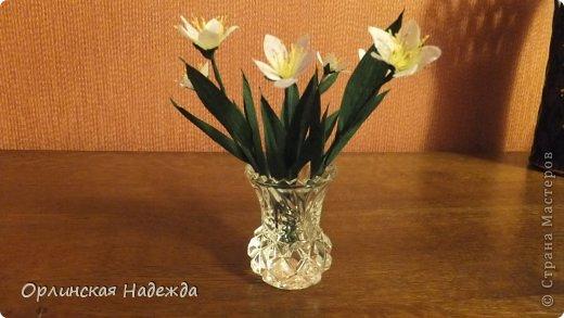 Добрый день любимая Страна! Сегодня я к Вам с повторюшками цветочков. Цветы увидела у замечательной мастерицы Татьяны ( Сапфир )  https://stranamasterov.ru/node/452732, очень понравились, попробовала тоже сделать, но у меня нет кристальной бумаги, поэтому я сделала из простой гофрированной. Татьяна, огромное Вам спасибо за Ваше творчество.  Уезжала надолго в гости к внукам, а когда вернулась, всё никак не могла настроится на творческую волну и решила пока попробовать свои силы вот в таких маленьких пробных цветочках.   Цветы нам дарят настроенье, И пробуждают вдохновенье, Как символ чистой красоты, Ведь очень трудно без мечты!  И остаётся прочно с нами, Всё то, что связано с цветами, В них растворились краски звёзд, И мир любви без мук и слёз!   Стихи Марка Львовского фото 13