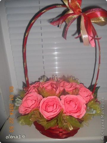Корзина с розами к дню рождения племянницы. У нас выпал снег и грех было не воспользоваться этим.  фото 6