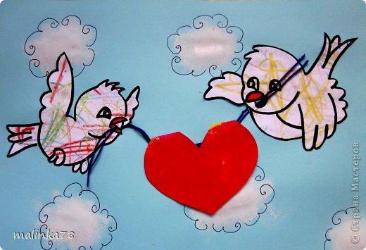 Понимаю, что День Валентина ещё далеко, но всё таки не за горами и мы потихоньку начинаем готовится к этому празднику и делать валентинки нашим любимым родителям.   фото 4