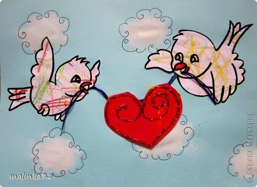 Понимаю, что День Валентина ещё далеко, но всё таки не за горами и мы потихоньку начинаем готовится к этому празднику и делать валентинки нашим любимым родителям.   фото 1