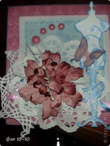 И ещё один календарь сделанный в подарок очень творческой женщине! Сначала очень долго покупала-придумывала детальки, а потом он сложился вот в такую композицию на одном дыхании! Столько удовольствия получила...))  фото 2