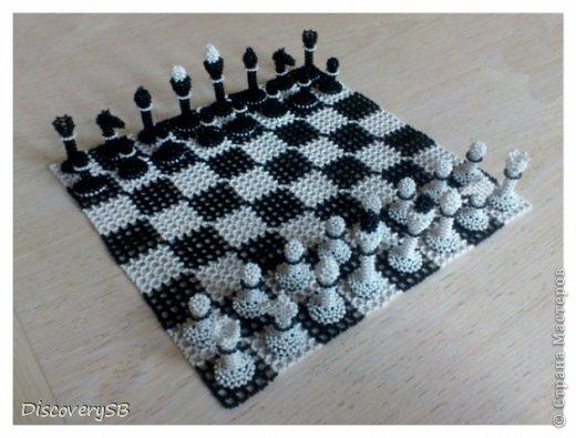 Шахматы из бисера Бисер