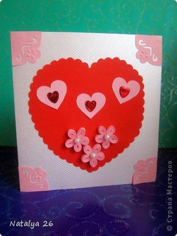 Всем здравствуйте,вот наделала открыточек ко дню всех влюблённых. фото 2