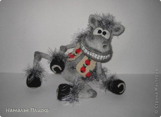 Всем привет!!! На днях у моего мужа, а если быть точной - в Старый Новый год, был день рожденья))))) А так как он родился в год Лошади, вопрос с подарком для меня был решён уже давно, как только я увидела этого Коня от Алоны Рабинович (http://www.liveinternet.ru/users/4938422/post293241034/)))))) Спасибо ей большое за позитив и лёгкое вязание))))))  фото 5