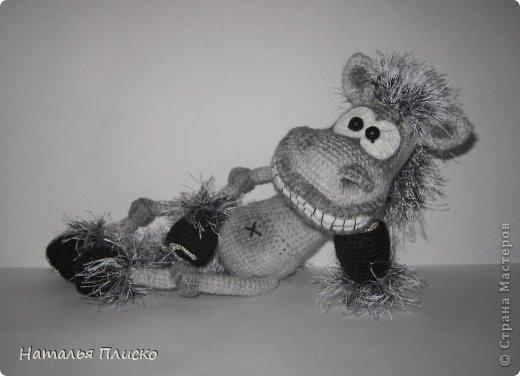 Всем привет!!! На днях у моего мужа, а если быть точной - в Старый Новый год, был день рожденья))))) А так как он родился в год Лошади, вопрос с подарком для меня был решён уже давно, как только я увидела этого Коня от Алоны Рабинович (http://www.liveinternet.ru/users/4938422/post293241034/)))))) Спасибо ей большое за позитив и лёгкое вязание))))))  фото 13