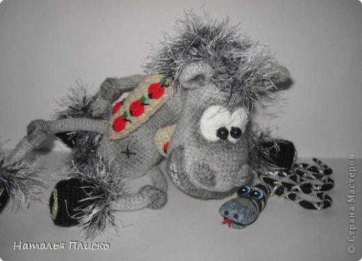 Всем привет!!! На днях у моего мужа, а если быть точной - в Старый Новый год, был день рожденья))))) А так как он родился в год Лошади, вопрос с подарком для меня был решён уже давно, как только я увидела этого Коня от Алоны Рабинович (http://www.liveinternet.ru/users/4938422/post293241034/)))))) Спасибо ей большое за позитив и лёгкое вязание))))))  фото 9