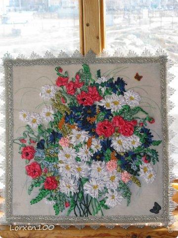 Картина панно рисунок вышивка лепка