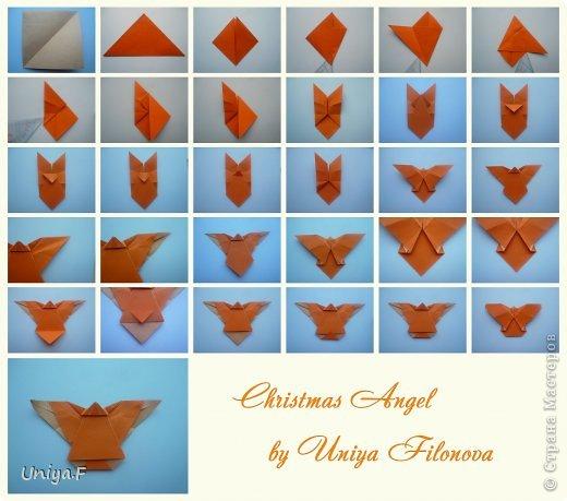 Мастер-класс Поделка изделие Новый год Рождество Оригами Рождественский ангел Туториал Бумага фото 32