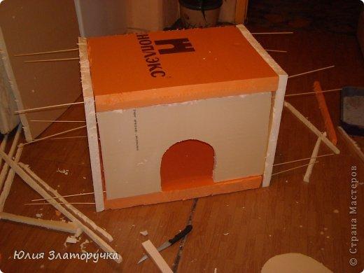 Захотелось мне для своего котейки домик сделать.А т.к.я с молотком на Вы -решила сделать его из пеноплекса)легко и тепло)) фото 2
