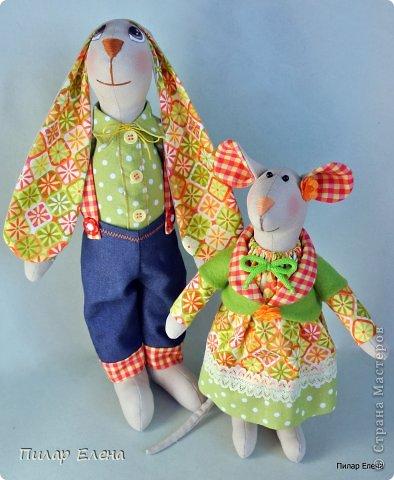 Славная парочка - мышка Маришка и заяц Егорка. фото 9